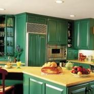 Deep Green Cabinets