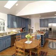 Denim Blue Cabinets