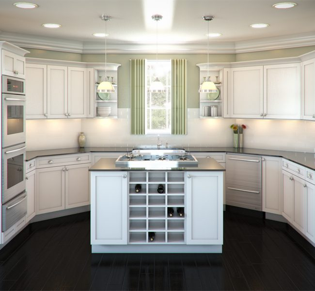 A More Social Kitchen (U-Shaped Kitchen with Island)
